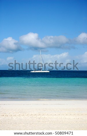 Cuba beach view in small island near varadero. - stock photo