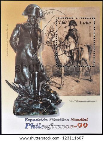 CUBA - CIRCA 1999: A stamp printed in cuba shows Napoleon Bonaparte, circa 1999 - stock photo