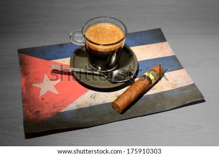 Cuba coffee - stock photo