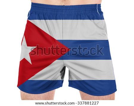 Cuba. Cuban flag  - stock photo