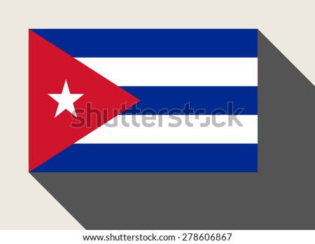 Cuba flag in flat web design style. - stock photo