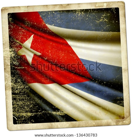 Cuba Grunge sticker - stock photo