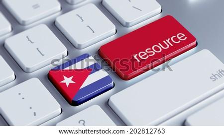 Cuba High Resolution Resource Concept - stock photo