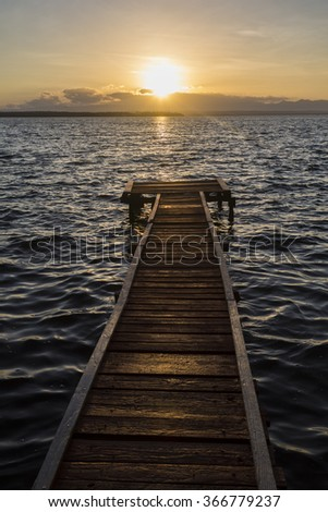 Cuba, pier in Cienfuegos - stock photo