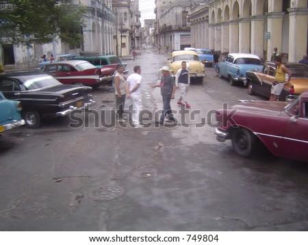 Cuban Taxi Stand - stock photo
