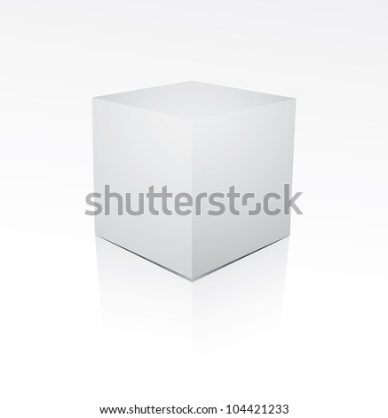 Cube on white background - stock photo