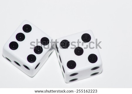 cube playing - stock photo