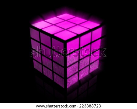 cube with images  - stock photo