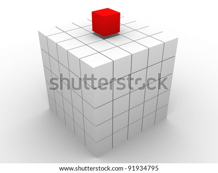 Cubes. Abstract background - 3d render illustration - stock photo