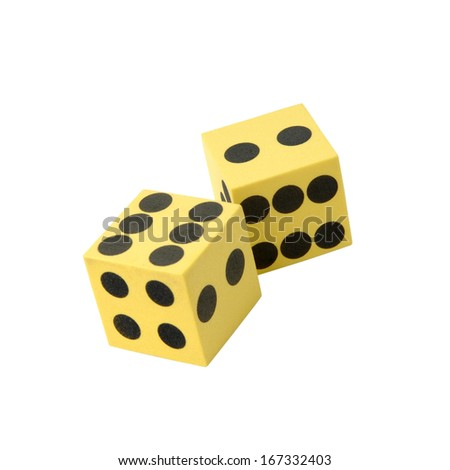 Cubes decorative the playing - stock photo