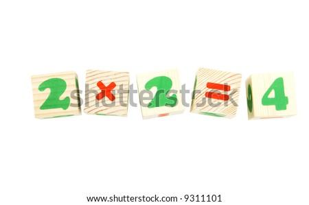 cubes isolated on white background - stock photo