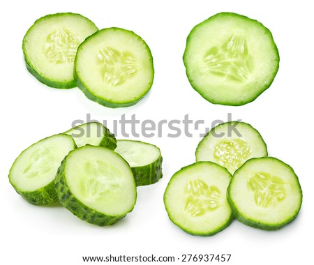 Cucumber isolated on white background - stock photo