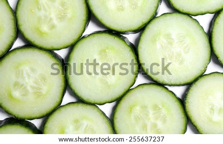 Cucumber on a white background - stock photo
