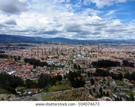 Cuenca, Ecuador from Above - stock photo