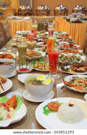 culinary food on the table - stock photo