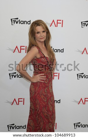 CULVER CITY - JUN 7: Lea Thompson at the 40th AFI Life Achievement Award honoring Shirley MacLaine held at Sony Pictures Studios on June 7, 2012 in Culver City, California - stock photo