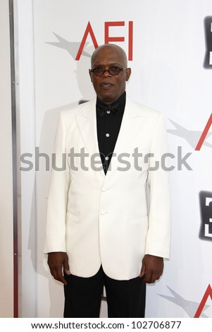 CULVER CITY - JUNE 9: Samuel L Jackson at the 39th AFI Life Achievement Award Honoring Morgan Freeman held at Sony Pictures Studios  in Culver City, California on June 9, 2011. - stock photo