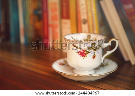 Cup art deco - stock photo