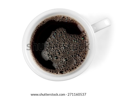 Cup. Brown Coffee Cup Beans collage - stock photo