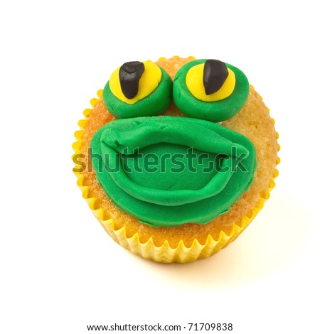 cup cake isolated on white - stock photo