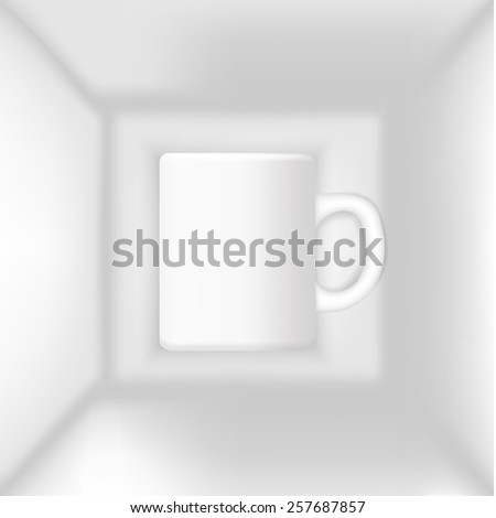 cup in the box - stock photo