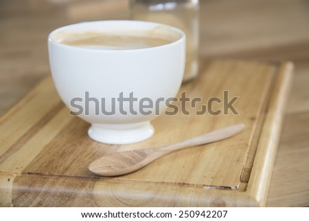 cup of cafe latte - stock photo