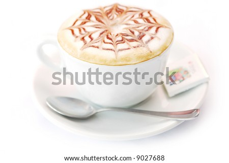 Cup of capuccino - stock photo