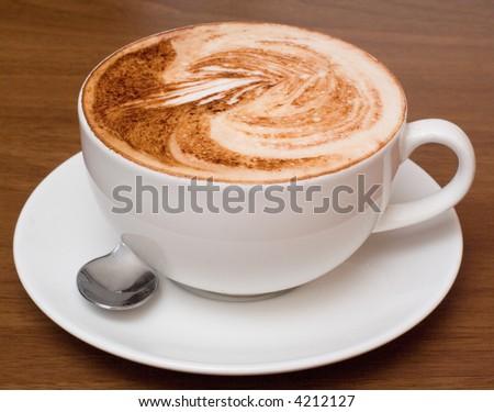 cup of cofee macro - stock photo