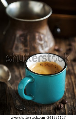 Cup of coffee. Coffee Espresso - stock photo