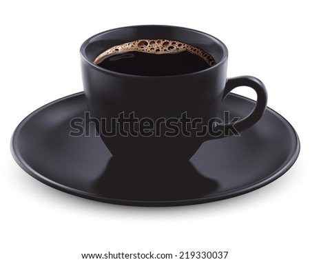 Cup of coffee isolated. Illustration - stock photo