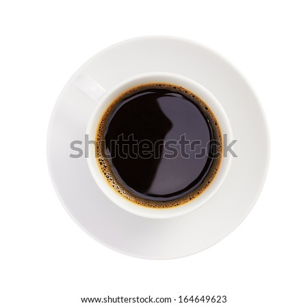 Cup of coffee, on white background, isolated - stock photo