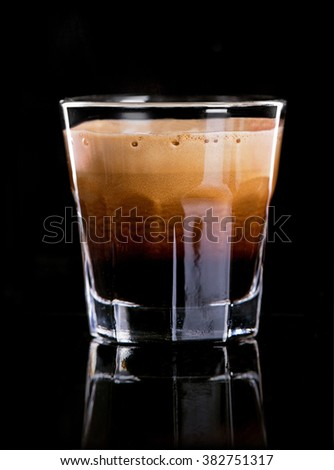 Cup of espresso coffee - stock photo