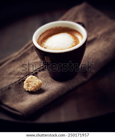 Cup of  espresso macchiato - stock photo