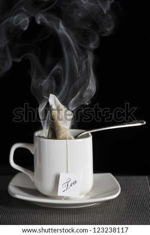 Cup of hot tea - stock photo