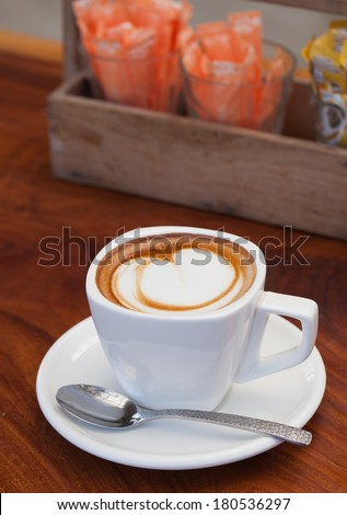 Cup of latte coffee. - stock photo