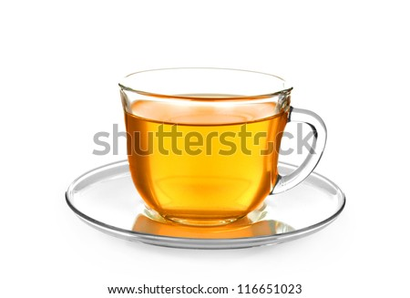 cup of tea isolated on white - stock photo