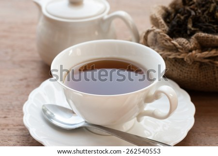 Cup Tea, Isolated on White Background. - stock photo