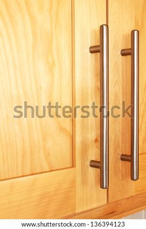 Cupboard handles - stock photo