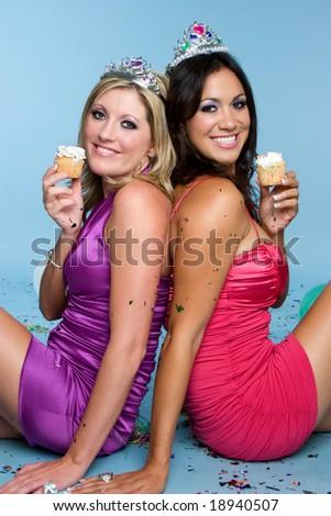 Cupcake Friends - stock photo