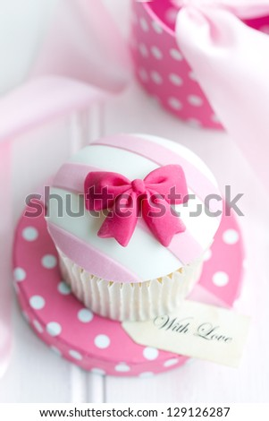 Cupcake gift - stock photo