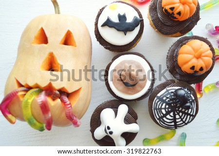 cupcakes closeup - stock photo