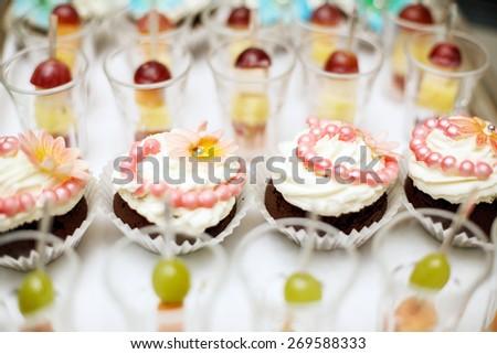 Cupcakes & snacks - stock photo
