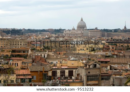 Cupola of St. Peter' Cathedral - stock photo