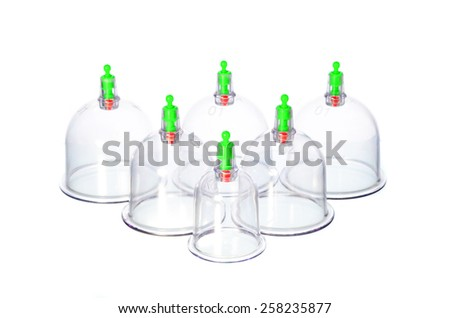 Cupping or Bekam Hijamah is traditional treatment - stock photo
