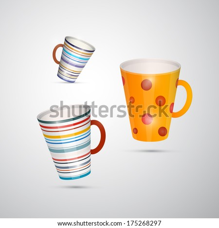 Cups Isolated on White Background - Also Available in Vector Version  - stock photo