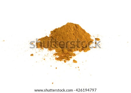 curcuma powder for food supplement - stock photo