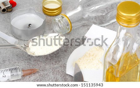 Curiosity was the beginning, addiction - stock photo