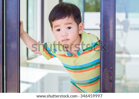 curious baby - stock photo