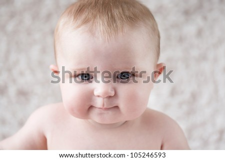 Curious Baby [6 Month Old] - stock photo