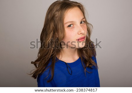 curious child - stock photo